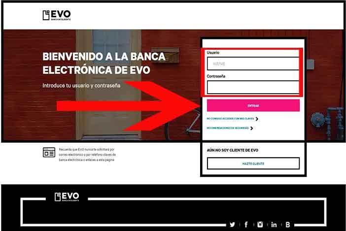 www.evobanco.com acceso a clientes